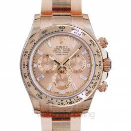Rolex Cosmograph Daytona Pink Gold Dial 18K Everose Gold Oyster Bracelet Automatic Men's Watch 116505PKDO