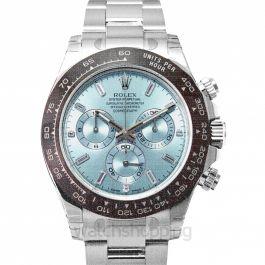 Cosmograph Daytona Platinum Automatic Blue Dial Diamonds Men's Watch