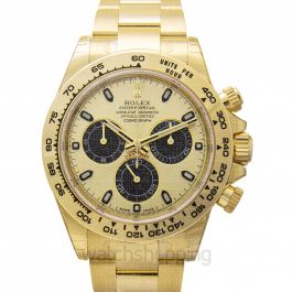 Cosmograph Daytona 18ct Yellow Gold Automatic Champagne Dial Men's Watch