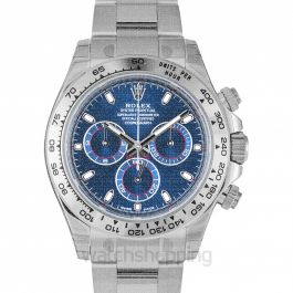 Cosmograph Daytona White Gold / Blue