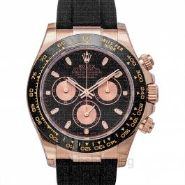Cosmograph Daytona 18ct Everose Gold Automatic Black Dial Men's Watch