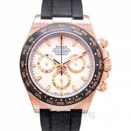 Cosmograph Daytona 18ct Everose Gold Automatic Ivory Dial Men's Watch