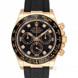 Cosmograph Daytona 18ct Yellow Gold Automatic Black Dial Diamonds Men's Watch
