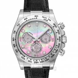 Cosmograph Daytona 18ct White Gold Automatic Mother Of Pearl Dial Diamonds Men's Watch