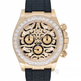 Cosmograph Daytona Eye of the Tiger Automatic Yellow Tone Dial Diamond Indexes and Bezel Men's Watch