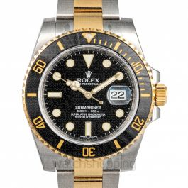 Submariner 18K Yellow Gold Automatic Black Dial Men's Watch