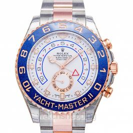 Yacht-Master II (2017) 18K Everose Gold Automatic White Dial Oyster Bracelet Men's Watch