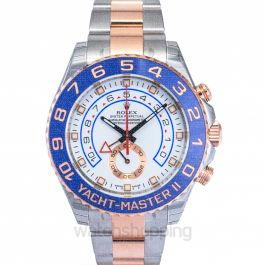 Yacht-Master II 18K Everose Gold Automatic White Dial Oyster Bracelet Men's Watch