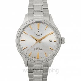 Style Swiss Stainless Steel Automatic Silver Dial Men's Watch