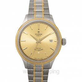 Style Swiss Yellow Gold Automatic Champagne Dial Men's Watch
