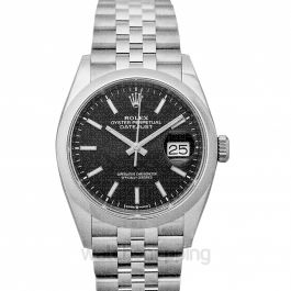 Datejust 36 Stainless Steel / Domed / Black / Jubilee