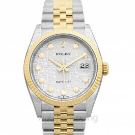 Datejust 36 Stainless Steel / Yellow Gold / Fluted / Silver Computer / Jubilee