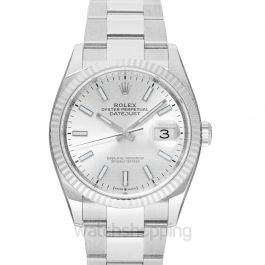 Rolex Datejust 36 Sliver Index Oyster Watch