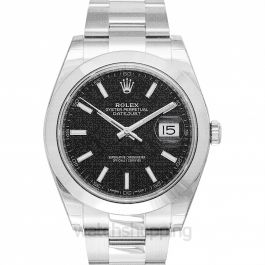 Datejust 41 Stainless Steel Smooth / Oyster / Black