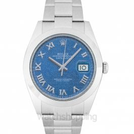 Datejust 41 Steel Automatic Blue Dial Men's Watch
