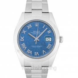 Datejust 41 Steel Automatic Blue Dial Men's Watch