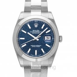 Datejust 41 Stainless Steel Smooth / Oyster / Blue