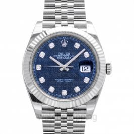 Datejust 41 Stainless Steel Fluted / Jubilee  / Blue Diamond