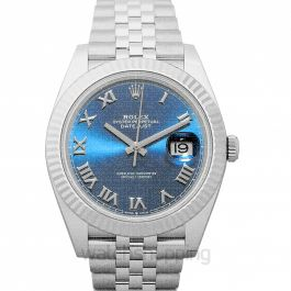 Datejust 41 Stainless Steel Fluted / Blue Roman / Jubilee -0026