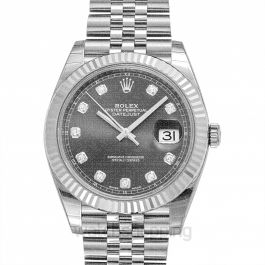 Datejust Rhodium Diamond Dial Automatic Men's Watch
