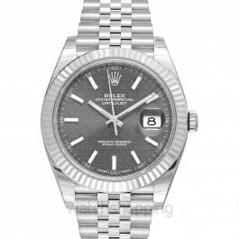Datejust 41 Stainless Steel Fluted / Jubilee / Dark Rhodium