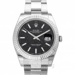 Datejust 41 Stainless Steel Fluted / Oyster / Black