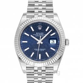 Datejust 41 Blue 18k White Gold/Steel Jubilee 41mm
