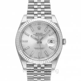 Datejust 41 Stainless Steel Fluted / Jubilee / Silver