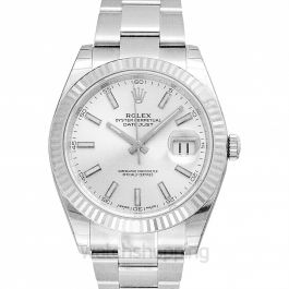 Datejust 41 White Dial Oyster Automatic Men's Watch