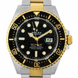 Sea-Dweller Oystersteel and 18 ct Yellow Gold Automatic Black Dial Unisex Watch