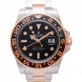 GMT Master II Black & Brown Bezel Stainless Steel Automatic Black Dial Men's Watch