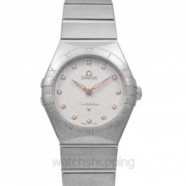 Constellation Manhattan Quartz 28 mm Quartz Silver Dial Diamonds Ladies Watch