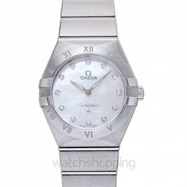 Constellation Manhattan Quartz 28mm White Dial Diamonds Ladies Watch