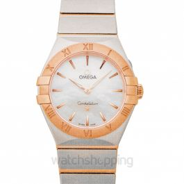Constellation Manhattan Quartz 28mm Quartz White Mother Of Pearl Dial Gold Ladies Watch