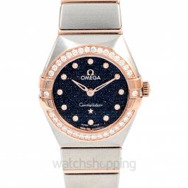 Constellation Manhattan Quartz 25mm Quartz Blue Dial Sedna™ Gold Ladies Watch