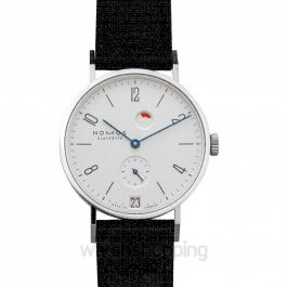 Tangente Date Power Reserve Manual-winding White Dial 35.0mm Unisex Watch