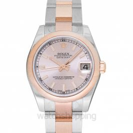 Datejust Lady 31 18ct Everose Gold Automatic Pink Dial Ladies Watch
