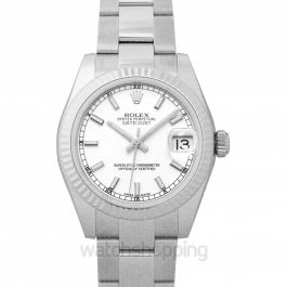 Datejust 31 Stainless Steel Fluted / Oyster / White 31mm