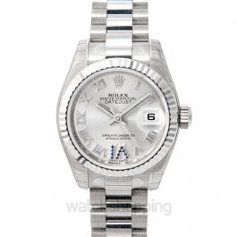 Lady Oyster Perpetual Silver/18k white gold G Ø26 mm