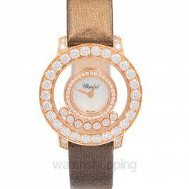 Happy Diamonds Quartz Mother Of Pearl Dial Diamonds Ladies Watch