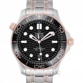 Seamaster Diver 300 M Co‑Axial Master Chronometer 42 mm Automatic Black Dial Gold Men's Watch