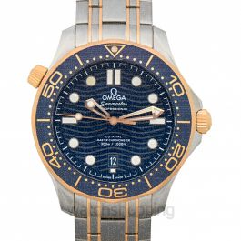 Seamaster Diver 300 M Co‑Axial Master Chronometer 42 mm Automatic Blue Dial Gold Men's Watch
