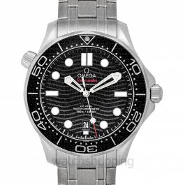 Seamaster Diver 300 M Co‑Axial Master Chronometer 42 mm Automatic Black Dial Steel Men's Watch