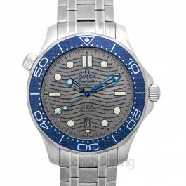 Seamaster Diver 300 M Co‑Axial Master Chronometer 42 mm Automatic Grey Dial Steel Men's Watch