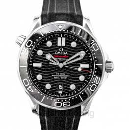 Seamaster Diver 300 M Co‑Axial Master Chronometer 42 mm Automatic Black Dial Stainless Steel Men's Watch
