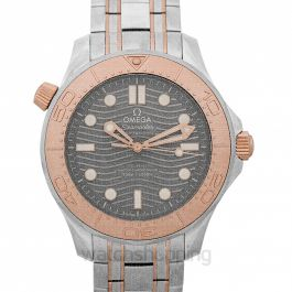 Seamaster Diver 300 M Co-Axial Master Chronometer 42 mm Automatic Grey Dial Titanium Men's Watch