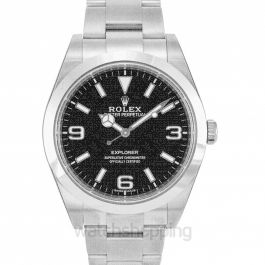 Rolex Explorer Black Dial Stainless Steel Oyster Bracelet Automatic Men's Watch 214270BKASO