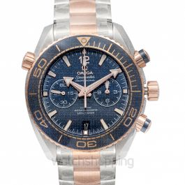 Seamaster Planet Ocean 600M Co‑Axial Master Chronometer Chronograph 45.5 mm Blue Dial Gold Men's Watch