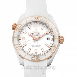 Seamaster Planet Ocean 600M Co‑Axial Master Chronometer 39.5 mm Automatic White Dial Gold Men's Watch