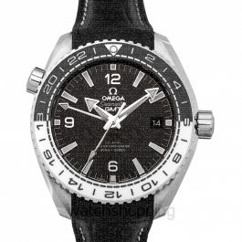 Seamaster Planet Ocean 600M Co‑axial Master Chronometer GMT 43.5 mm Automatic Black Dial Steel Men's Watch